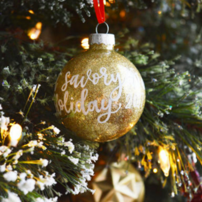 Glitter Ornament Tutorial and Gift Ideas